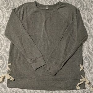 Tunic Crew Neck Sweatshirt